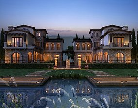 3D model Twin house villa