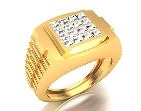 Men groom solitaire ring 3dm render detail platinum