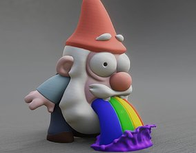 3D printable model Rainbow Barfing Gnome