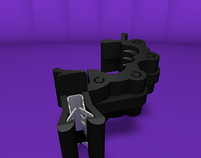 Plastic clamp with clip 3D