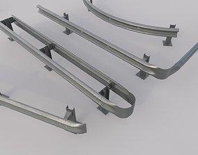 Road Barrier Guardrail Pack 3D model
