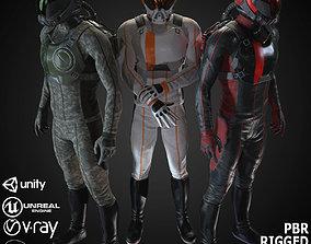 MX01 Sci-Fi Suit Male 3D asset