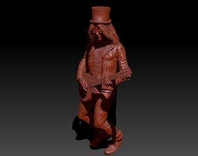 Slash playing guitar - Slash tocando la 3D printable model