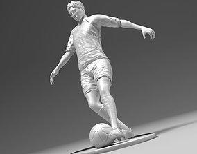3D printable model Footballer footstrike 02