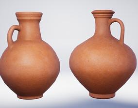 3D model Roman Terracotta Flagons - 2 Variations