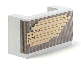 Rectangular Reception Desk 3D