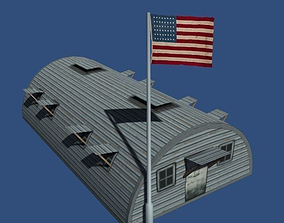 Us Barracks from World War 2 3D model