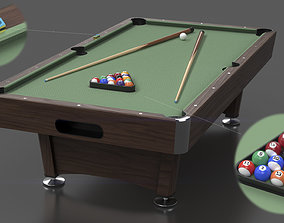 Billiard pool table 3D model
