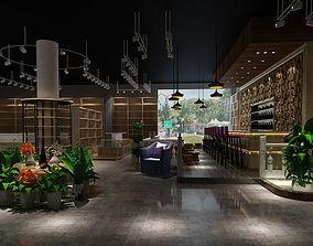 Business Restaurant - Coffee - Banquet 105 3D model