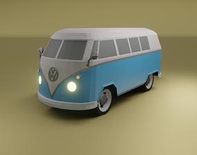 realtime Volkswagen type 2 1967 low poly 3D model