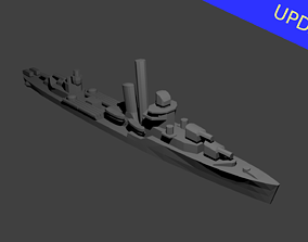 3D print model US Bagley Class Destroyer Warship