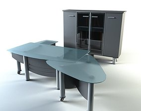 office table and cabinet Full Mobili 3D model
