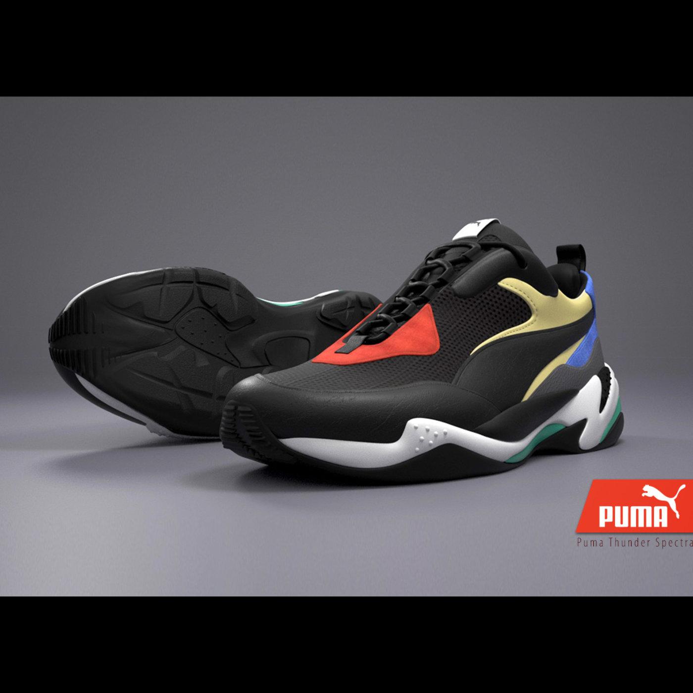"Puma ""Thunder Spectra"" Shoe / 3D Presentation"