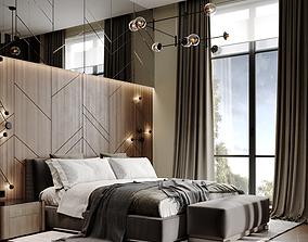 3D model Scene Bedroom silver bor