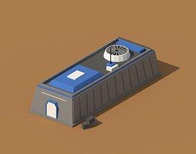 3D model Low Poly Scifi Hangar 1