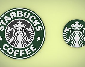 3D model Starbucks logo coffee
