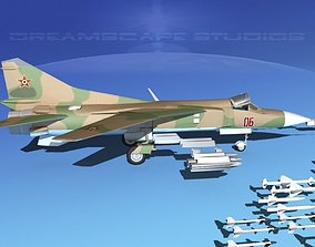 3D model Mig-23 Fighter Hungary