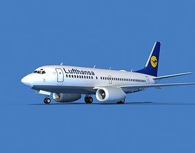 3D model Boeing 737 MAX 7 Lufthansa