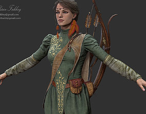 Archer Warrior - Woman 3D asset