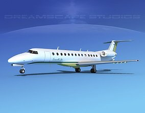 Embraer ERJ-135 Louisville Jet 3D model