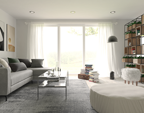 Interior Scene Living Room for 3dsMax HDRI