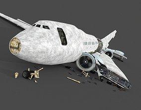 3D asset Wreck Airplane