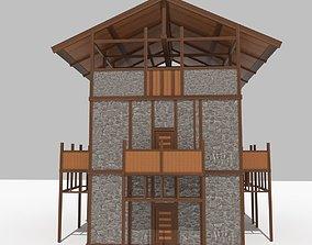 Medieval Outpost building 3D asset