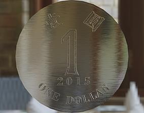 3D model One-Dollar Coin of Hong Kong