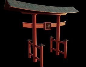 Japanese Torii with PBR 3D