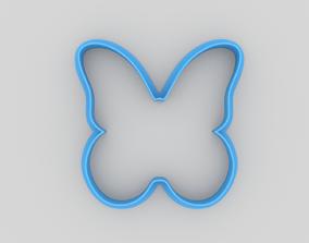 Butterfly cookie cutter 3D print model