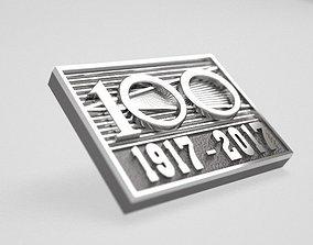 100 years of October - original badge 3D printable model