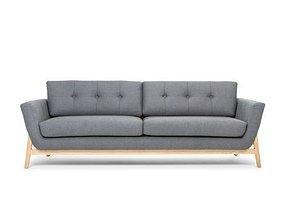 helgrim 3 seater sofa grey room 3D