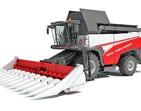 Rostselmash Corn Head Combine Harvester 3D