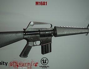 3D asset M16 A1 Rifle
