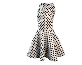 3D Dress with dots