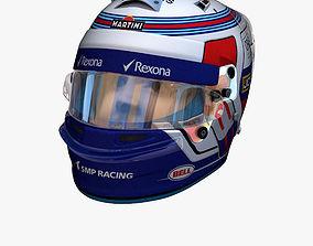 Sirotkin helmet 2018 3D asset