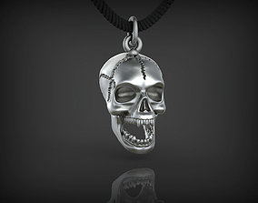 Pendant Skull STL 3D Model printable