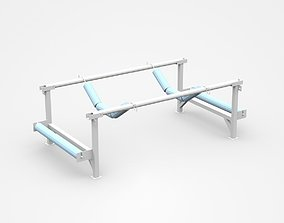 Industrial Construction Part Stand Support 3D model