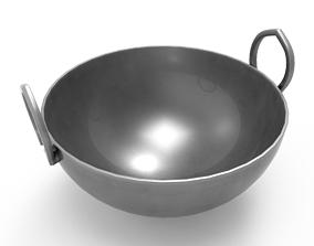 3D asset Cauldron Metal Kadai