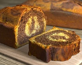 3D model Marble Cake - 3 Pieces - Low Poly