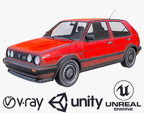 Volkswagen Golf GT 1987 3D model