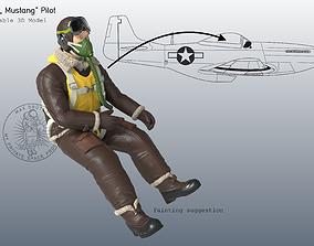 rc P-51 Mustang Pilot 3D print model