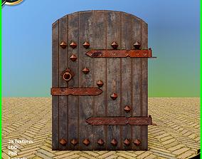 3D asset Old Wooden Door