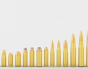3D model The Pistol and Rifle Cartridge Collection