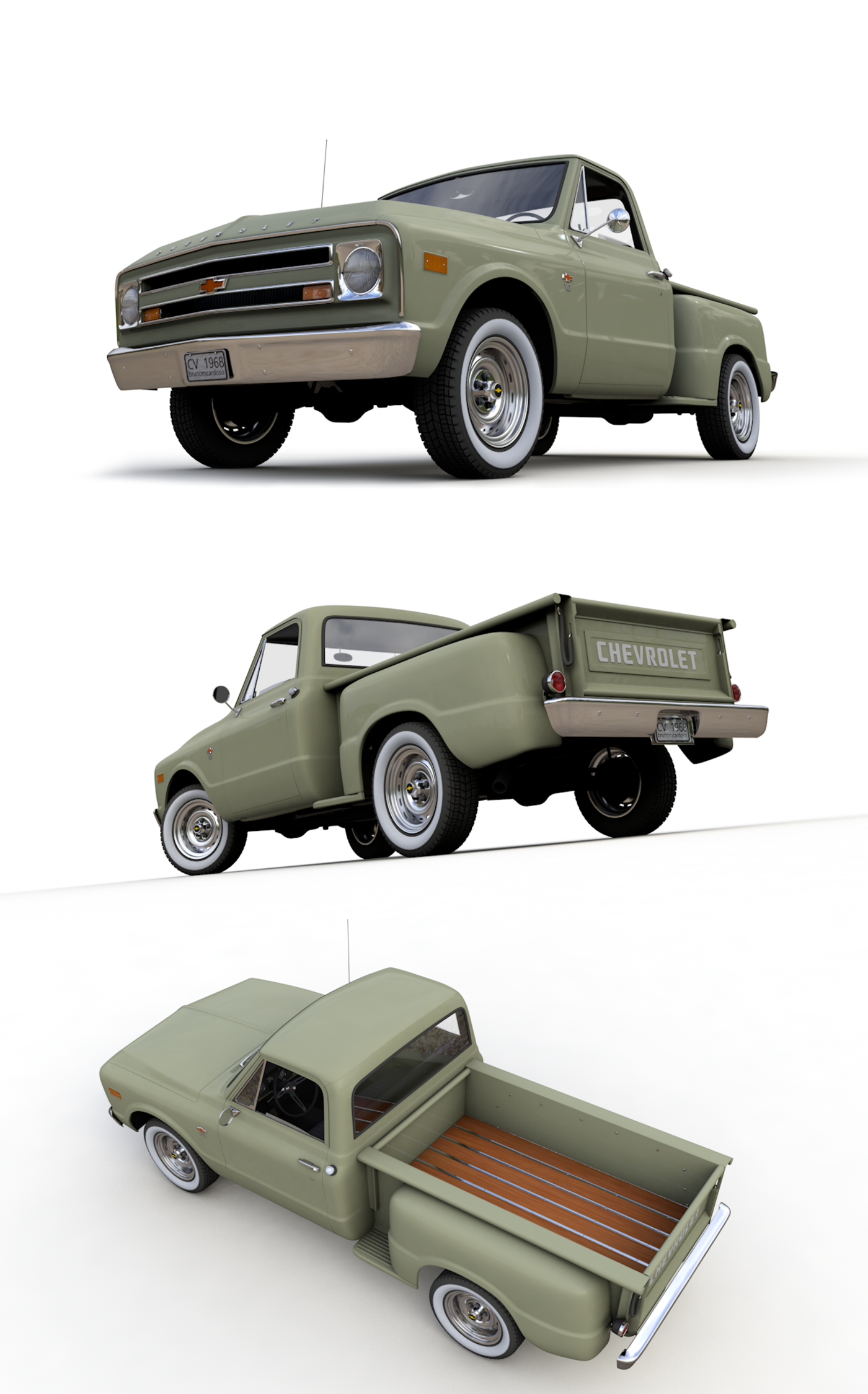 CHEVY C10 PICKUP STEPSIDE TRUCK 1968