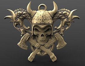 Viking skull 6 3D printable model