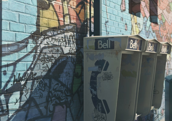 City phone booths
