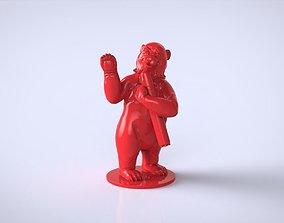 Bear with a rocket 3D printable model