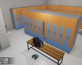 3D asset Cloackroom - interior and props