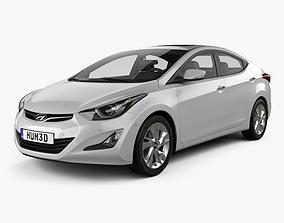 3D Hyundai Avante sedan 2014